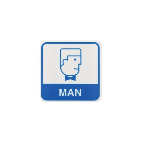 [아트사인] [아트사인] 화장실표지판 MAN 남자얼굴 60x60mm