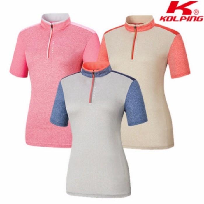 콜핑 NC05 여성 쿨소재 반팔 집업 티셔츠 KPT0530W