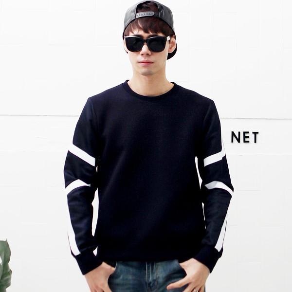 남자 네오프렌 맨투맨 라운드 티셔츠 36 R2 소매 직기