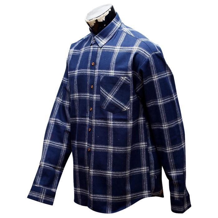 남자 오버핏 체크 남방 와이 셔츠 32 MS No5 OV
