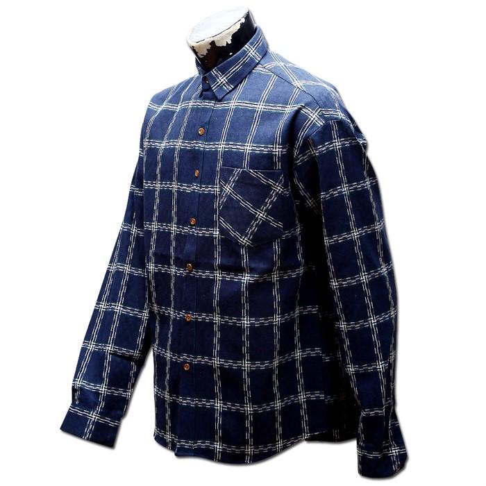 남자 오버핏 체크 남방 와이 셔츠 32 MS No4 OV