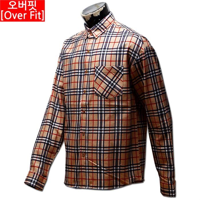 남자 오버핏 체크 남방 와이 셔츠 31 MS No2 OV