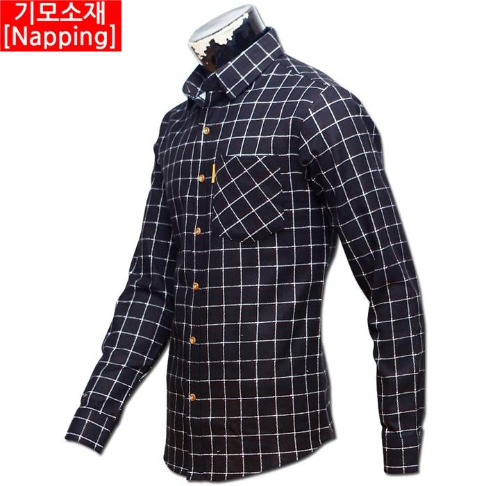 남자 빅사이즈 기모 체크 남방 셔츠 06 MS G#6