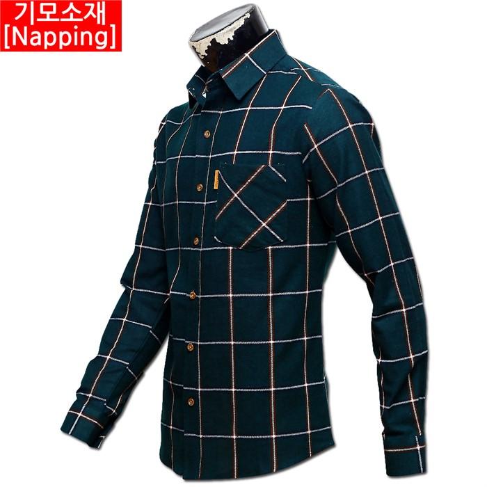 남자 빅사이즈 기모 체크 남방 셔츠 02 MS G#2