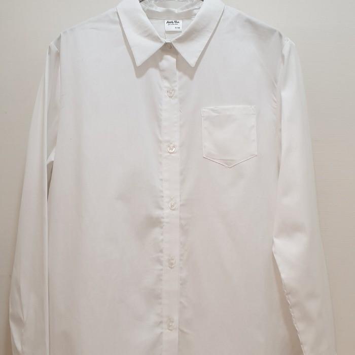 애플핑크 NC05 화이트슬리브 셔츠 APK1O505GSW