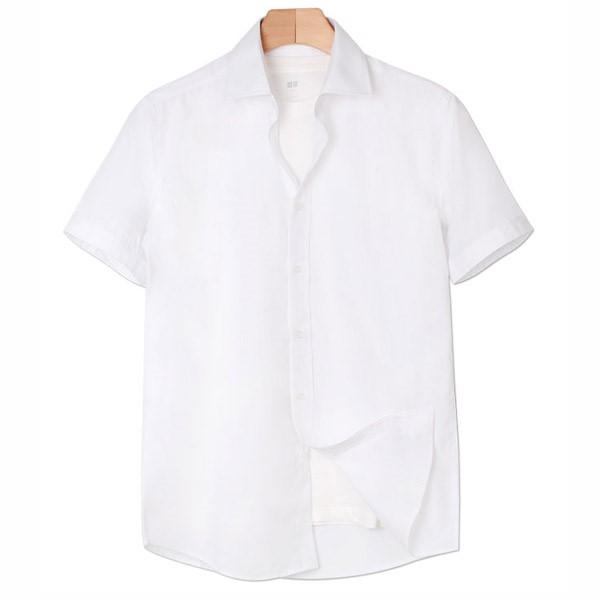 [인스토어넷] 슬림핏 반팔 셔츠 베이직 화이트 INN_210