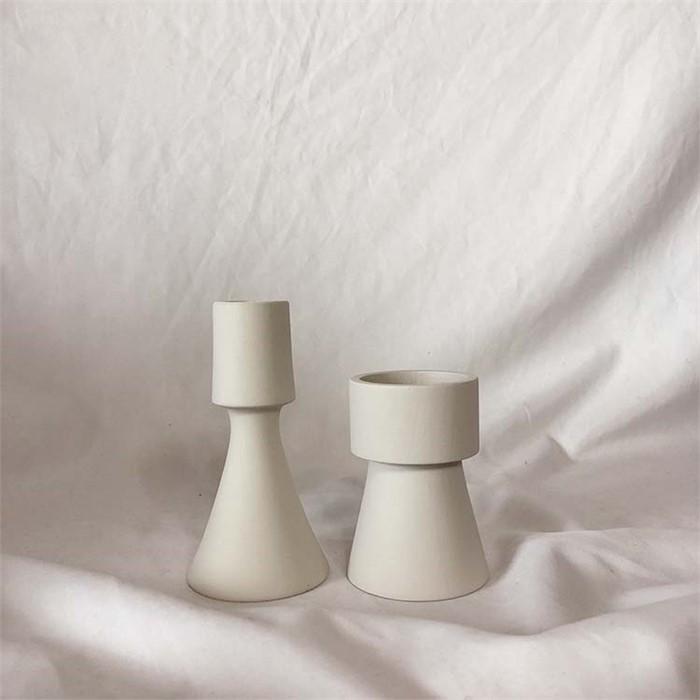 [피우다 (PIUDA)] 크림 미니촛대 (원형,삼각)