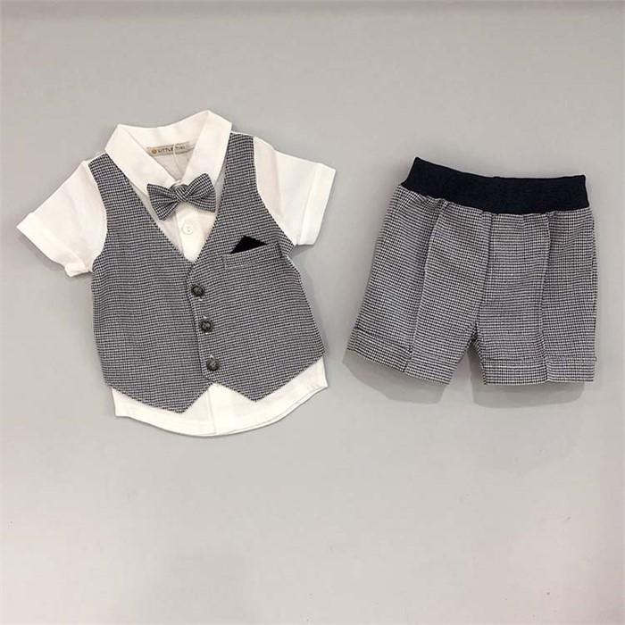 [피우다 (PIUDA)] 하운즈투스 남자아기 캐주얼 정장 set (남아정장 /출산 축하선물/임신축하선물)