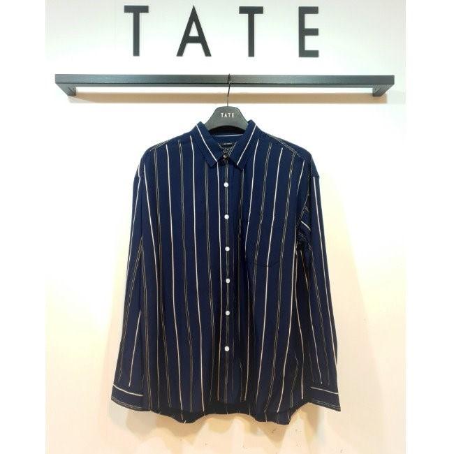 TATE NC02 세미오버핏 스트라이프 셔츠 KA9F7-MRC050