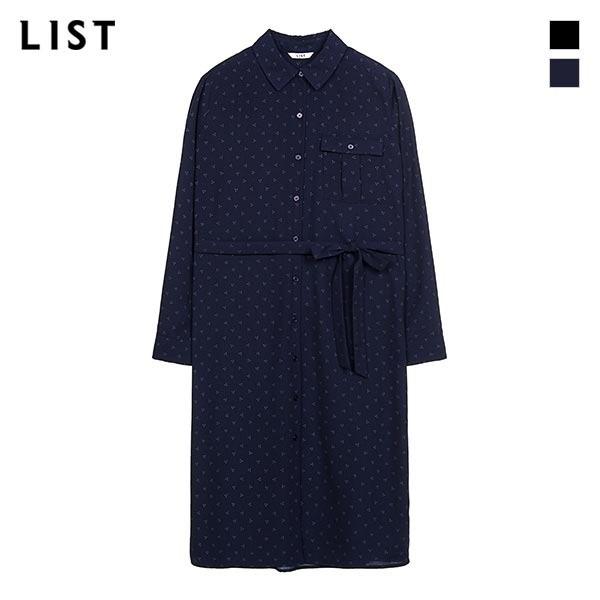 리스트 LIST NC05 벨티드 프린트 셔츠_ TWWSTJ70060