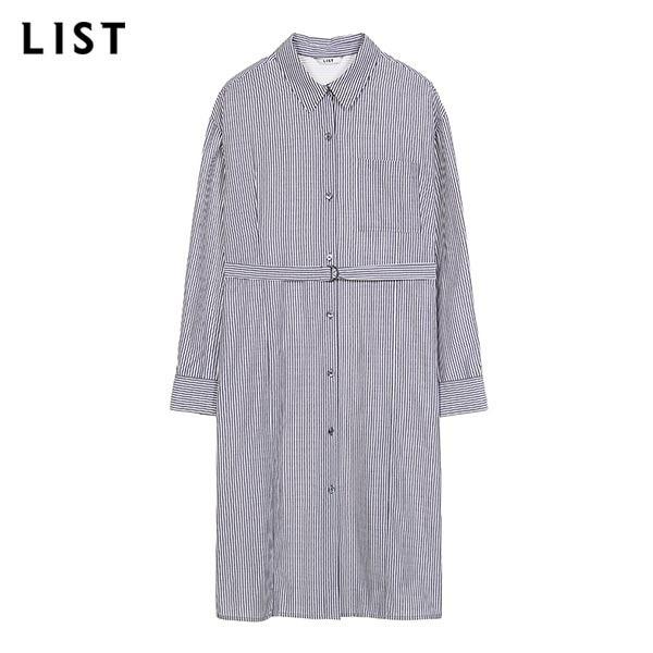 리스트 LIST NC05 스트라이프 롱 셔츠_ TWWSTJ70150