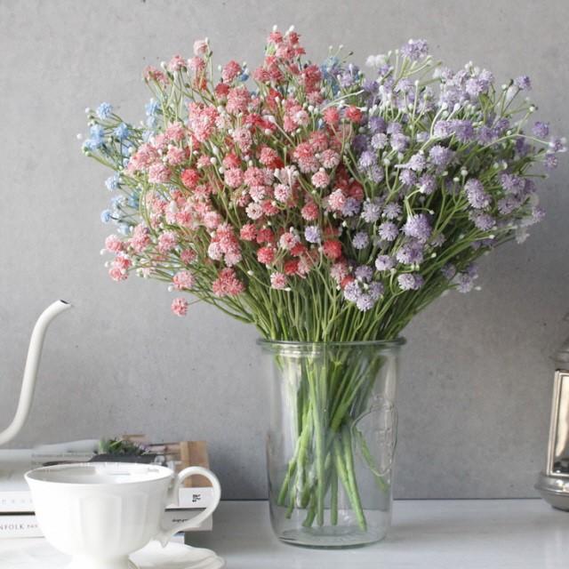 [다올딜라잇] 봄빛 안개꽃 조화 4color