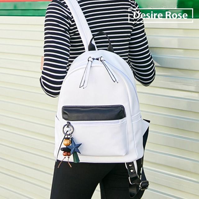 [디자이어로즈] 여자백팩 대학생백팩 가죽 캐주얼백팩 학생백팩 120