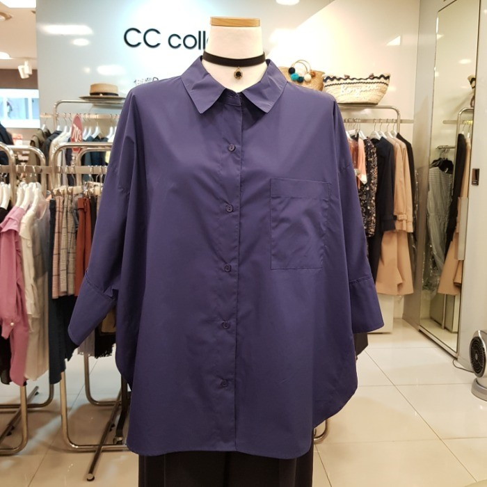 CC collect NC02 루즈핏포컷블라우스 E93MSC102 BL