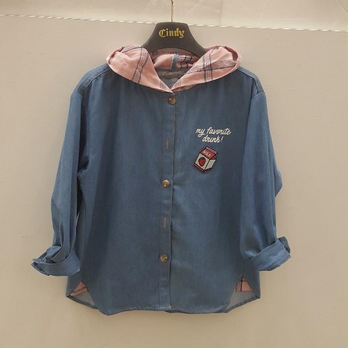 신디키즈 NC05 오버 핏 후드 셔츠 2 CIBL19802
