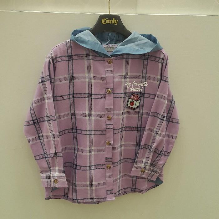 신디키즈 NC05 오버 핏 후드 셔츠 CIBL19802