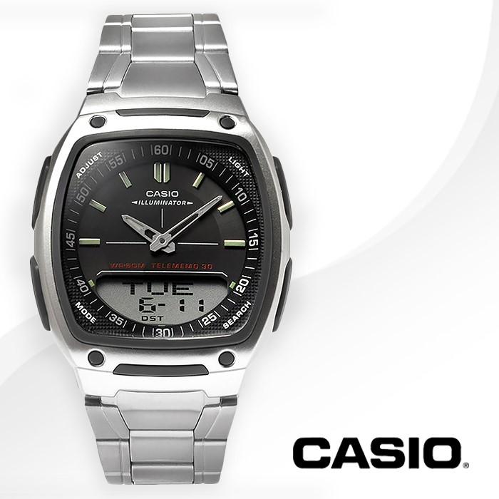 CASIO 카시오 AW-81D-1A 남성시계 메탈밴드 손목시계