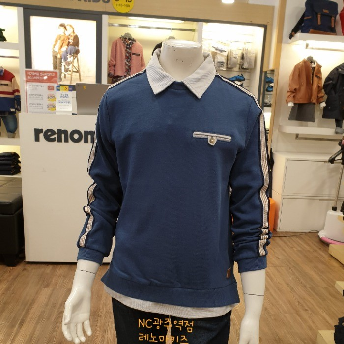 레노마키즈 NC05 소매띠배색맨투맨티 R1932T136