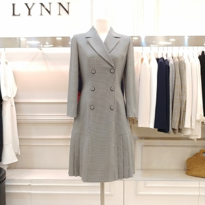 Lynn NC02 린 더블버튼 주름 원피스 LCOPJI0200