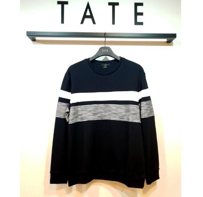 TATE NC02 남성 블럭배색 티셔츠 KA9F8-MKL130