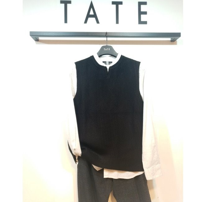 TATE NC02 남성 브이넥트임 베스트 KA9F7-MSP010