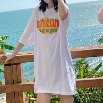 여성의류 7부티 디스코박스롱티 여성프린트티셔츠