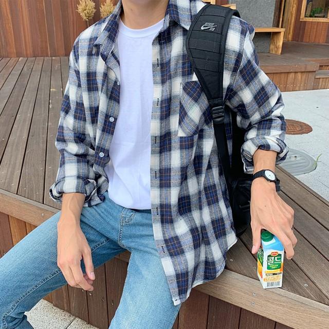 [ZAVINO] 피오 체크 셔츠 (2 COLOR)