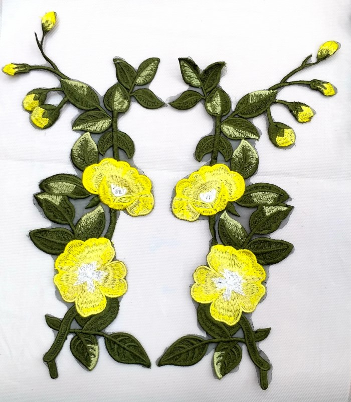 [꿀템포유] 와펜 패치 티셔츠리폼 의류리폼 청바지리폼 꽃 자수 1576-77