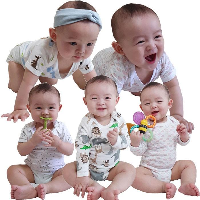 [트리베어] 5종set 아기옷 유아옷 출산용품 반팔 / 긴팔 (2-12개월)