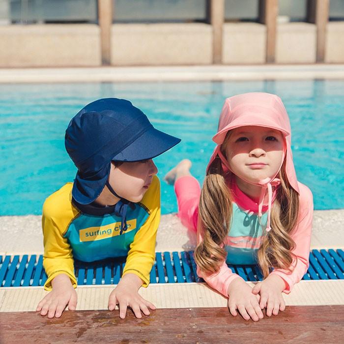 [트리베어] 아동 써프 플랩캡 수영모자