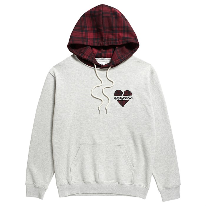 NOMANTIC CHECK POINT HOOD T-SHIRTS OATMEAL