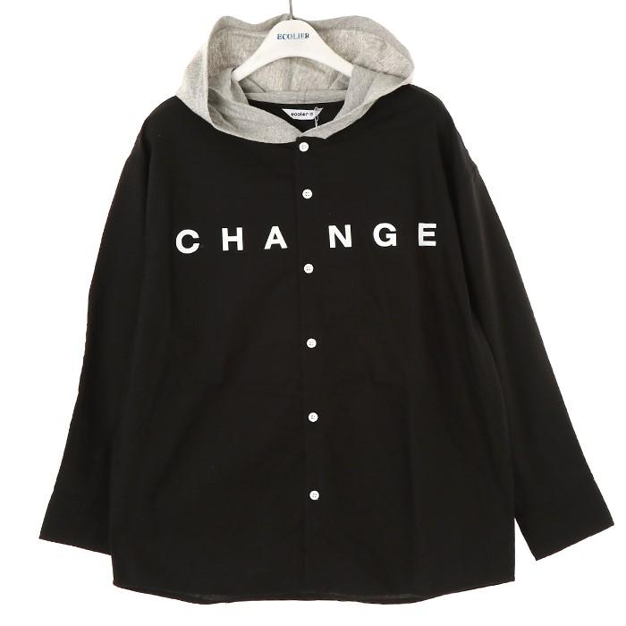 에꼴리에 NC02 유니캐쥬얼블랙후드셔츠 19C5302