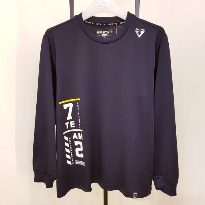 JCB NC05 남아 폴리 싱글 긴팔 티셔츠 JBK8O503 Z
