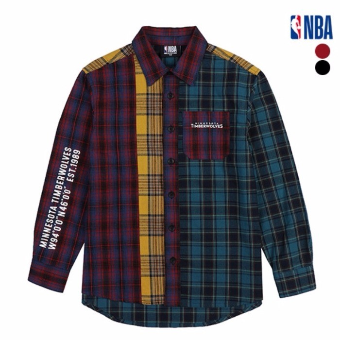 NBA키즈 NC02 미네소타팀버울브스블럭셔츠 K191SH001P