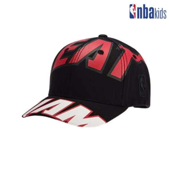 NBA키즈 NC02 마이애미히트 빅 로고 볼캡 K195AP424P