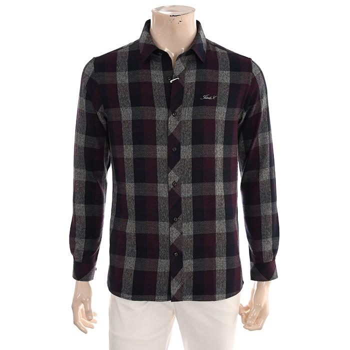 JDX NC02 남성 체크 패턴 셔츠 X2QFWSM02