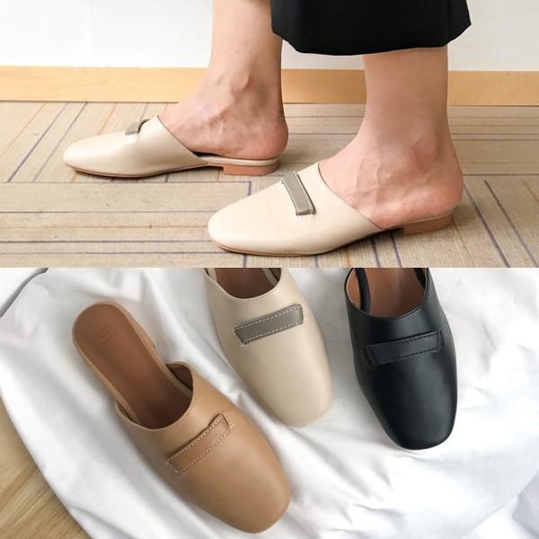 [애슬릿] 발 편한 스퀘어 여성 블로퍼 1.5cm