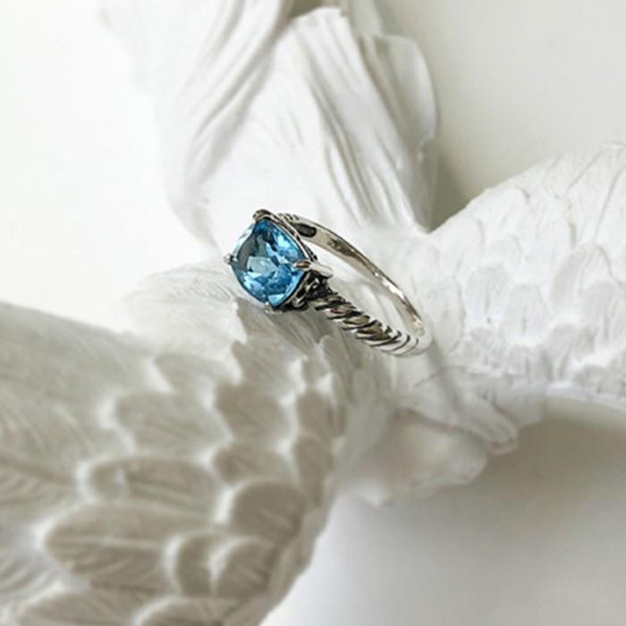 [제이블링] 런던 블루토파즈 밴드꼬임 반지