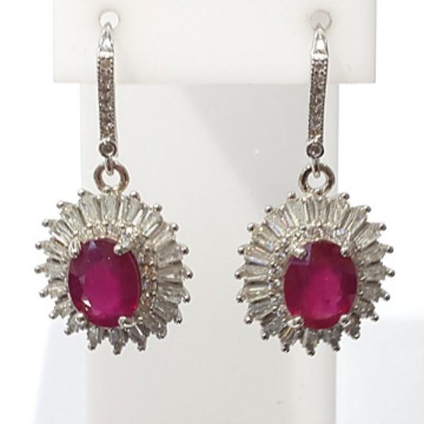 [블루케이] 루비 원석 귀걸이 n190813-19