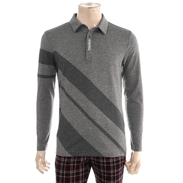 JDX NC02 남성 인팅헤링본 패턴  티셔츠 X1QFTLM02