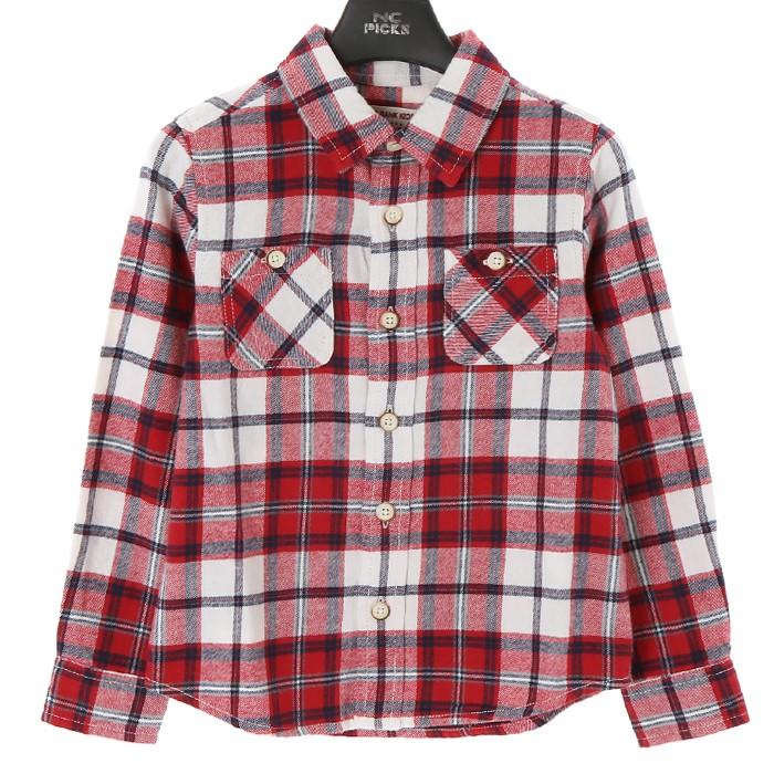 인디고키즈 NC02 레드체크 셔츠 IKYC19W0210