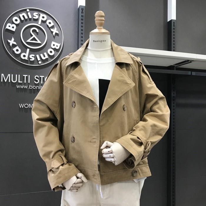 보니스팍스 NC02 테일러드 숏 트렌치 재킷 X38JK070