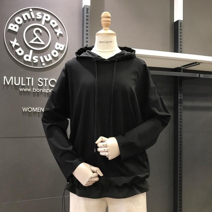 보니스팍스 NC02 밑단 스트링 후드 티셔츠 X32TS050
