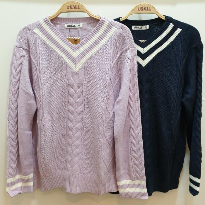 유솔 NC05 꽈베기 무늬 스웨터 ULKA19W51