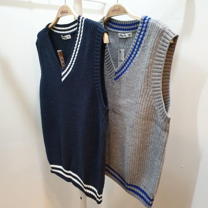 유솔 NC05 V이넥 공용 스웨터 조끼 ULKA19W02