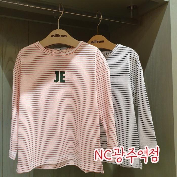 밀리밤 NC05 스트라이프 티셔츠 MLLA19W64