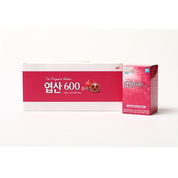 [더붐컴퍼니] [ 엽산600플러스 ] 먹기 편한 분말 엽산 / 석류맛 / 120포 / 4개월분 / 임산부 필수 영양제