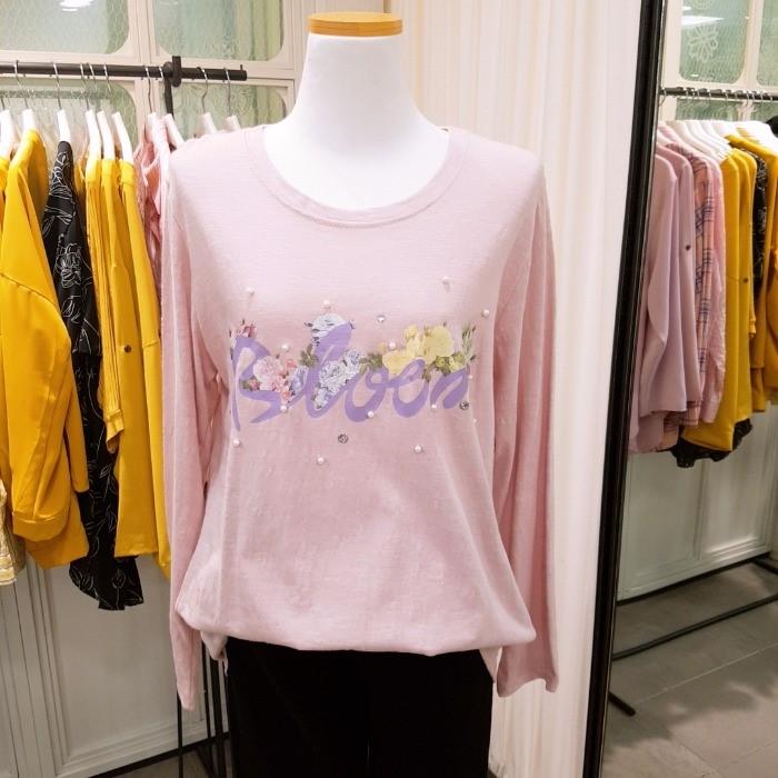 샤이린 NC05 큐빅 프린트 티셔츠 S81MTS707