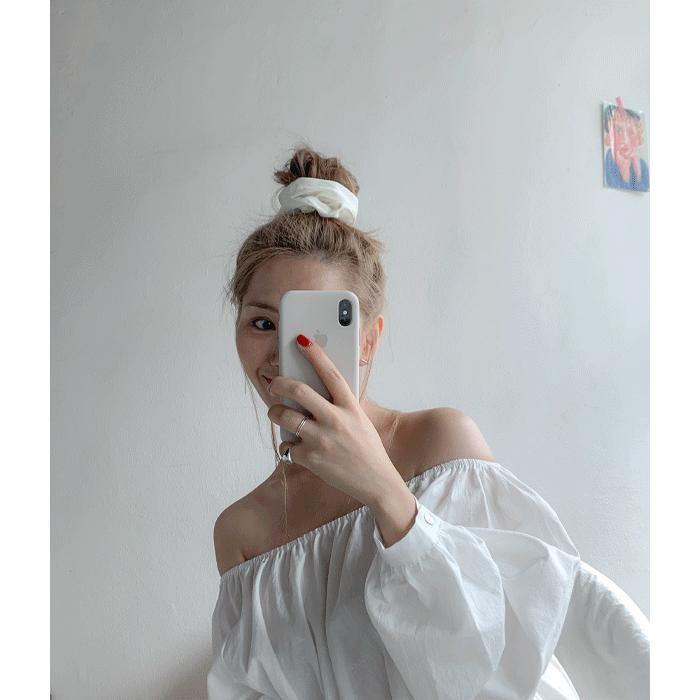 [쓰리템포] 실크 새틴 헤어밴드 곱창 머리끈