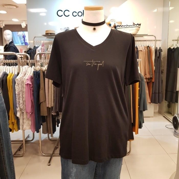 CC collect NC02 브이넥 기본티셔츠 E193PSM102 BK